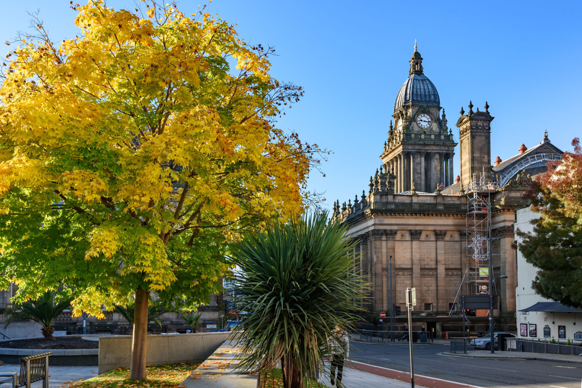 A photograph of Leeds taken by Gooding Funeral Services for the bereavement support page